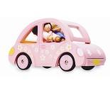 Sophies bil, dukkehustilbehør i tre fra Le Toy Van