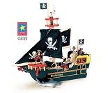 Barbarossas sjørøverskip i tre fra Le Toy Van