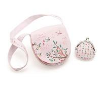 Lys rosa veske og pengepung Summer Garden - Djeco