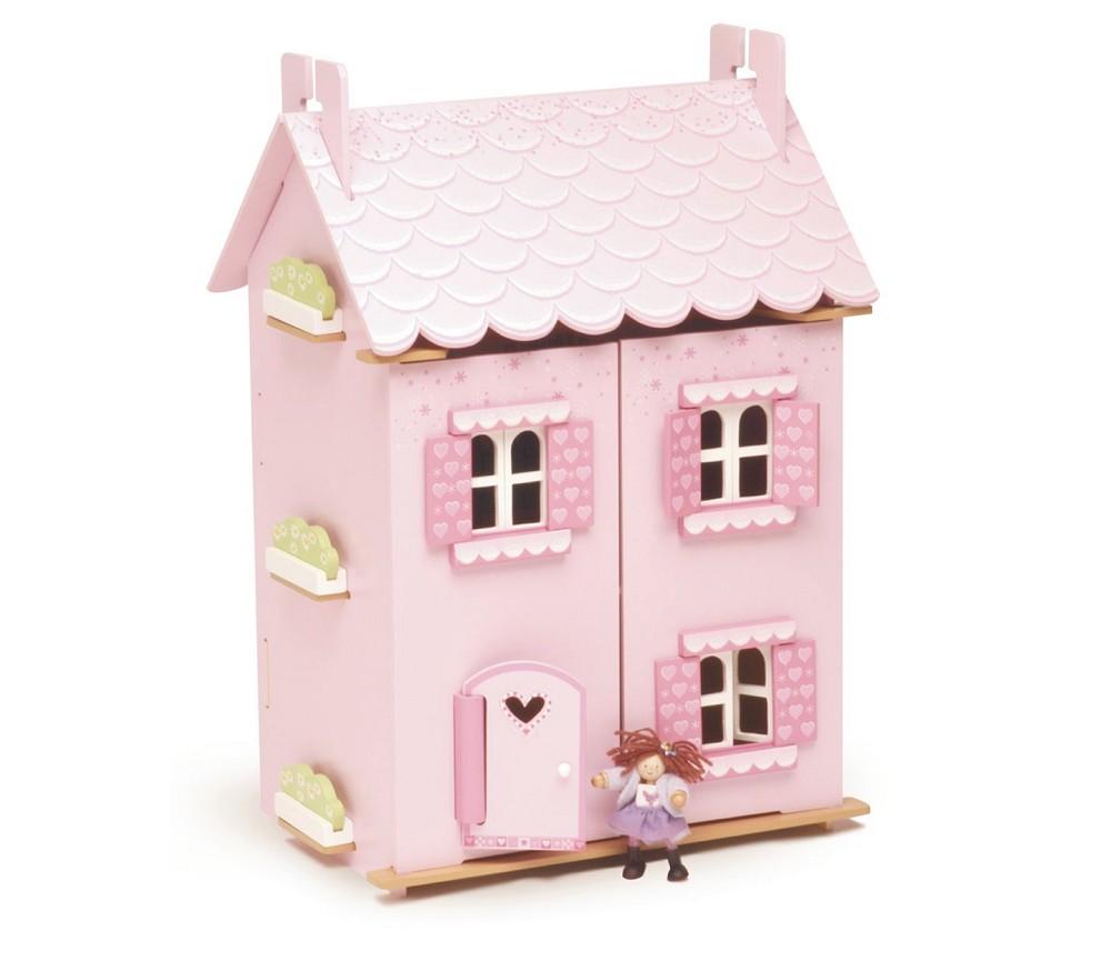 Dukkehus rosa dr mmehus med m bler sprell veldig fine for Casa de juguete para jardin