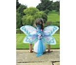 Sommerfuglvinger med glitter, blå