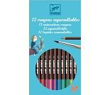12 Akvarell fargeblyanter i klassiske toner fra Dj