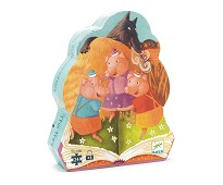 Eventyrpuslespill De tre grisene, 24 biter - Djeco