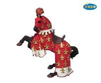 Rød Prins Philip hest miniatyrfigur - Papo