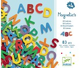 Magneter, 83 bokstaver i tre, versaler - Djeco