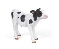 Sort og hvit kalv miniatyrfigur - Papo