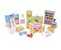 Startsett med møbler til dukkehus - Le Toy Van
