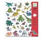 Klistremerker med dinosaurer - Djeco