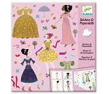 Hobbysett, papirfigurer kjoler - Djeco