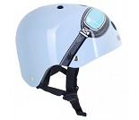 Sykkelhjelm, blå kjørebriller, small (48 - 53 cm)