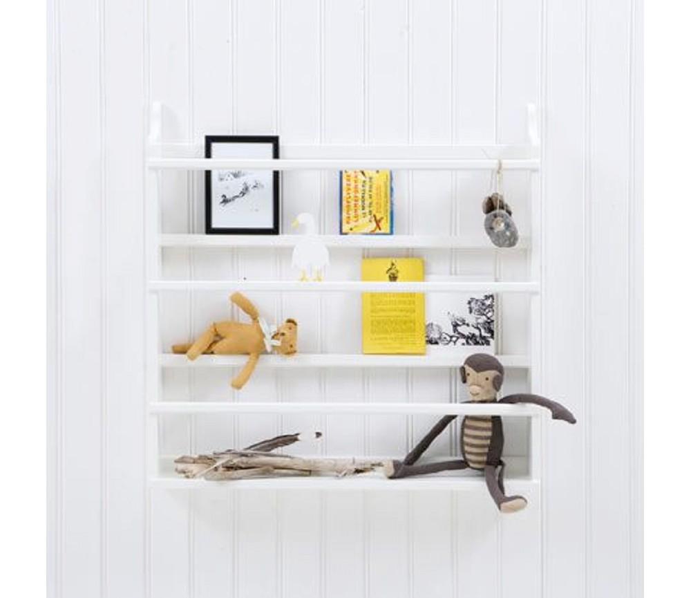 Hvit tallerkenhylle fra Oliver Furniture Sprell - veldig fine leker ...