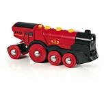 Batteridrevet rødt lokomotiv - BRIO