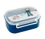 Matboks i plast med fruktrom, blå med brannmann
