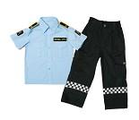 Politiuniform, 6-8 år, kostyme
