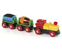 Tog med sement og kullvogn, batteridrevet - BRIO