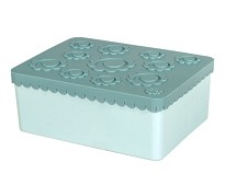 Blå matboks med tre rom - Blafre