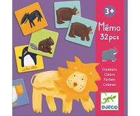 Memospill med fargeglade dyr - Djeco