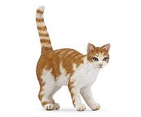 Rød og hvit katt miniatyrfigur - Papo
