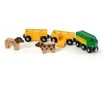 Tog med vogner og dyr - BRIO