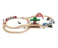 Togbane med tog og figurer, 42 deler - BRIO