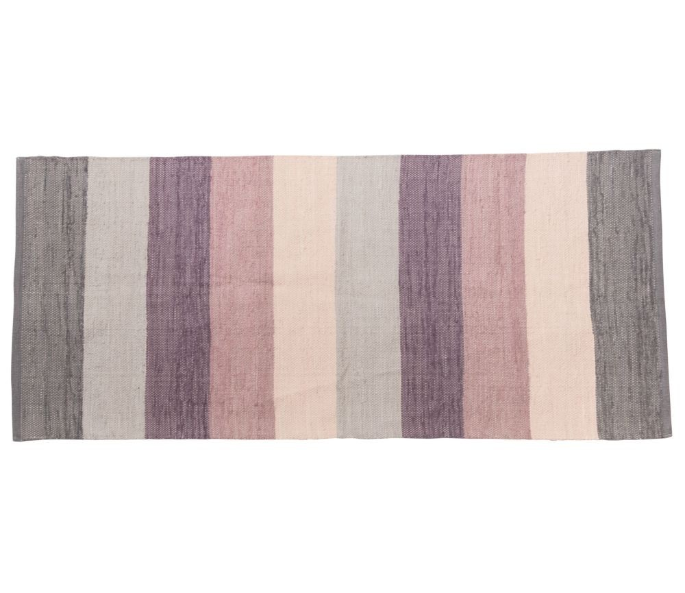 Glimrende Gulvteppe fra Sebra, rosa, lilla og grå striper | Sprell - veldig HU-45