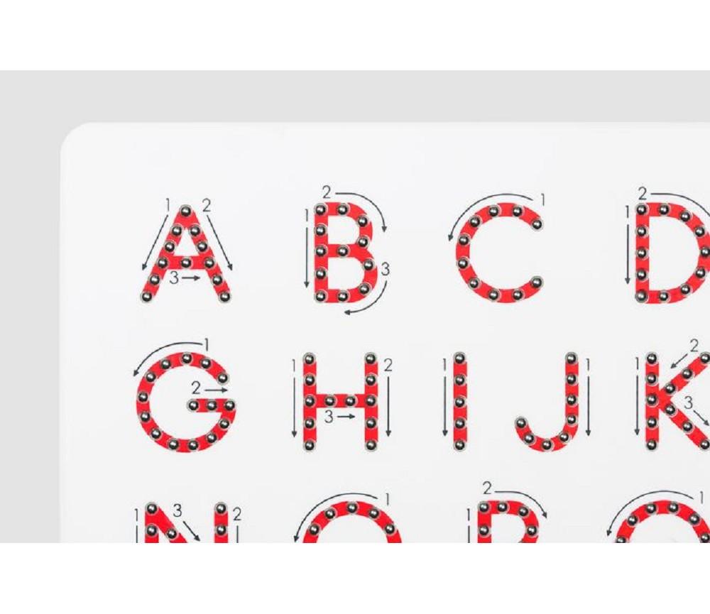 Magnettavle, store bokstaver Sprell - veldig fine leker og ...