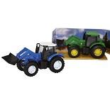 Modellbil, traktor med gravearm