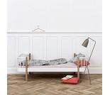 Wood hvit / eik enkelseng fra Oliver Furniture