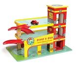 Dinos Garasje, parkeringshus i tre fra Le Toy Van