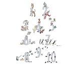 Plakat med tall og dyr, 50x70 cm