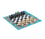 Sjakkspill med fint motiv fra havet