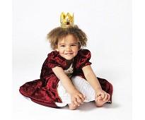 a69f42931f0e ... Prinsessekjole i rød fløyel