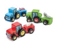 Traktor i tre med gårdsdyr, 3 valg - Le Toy Van