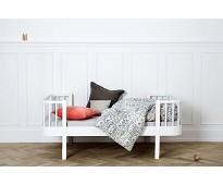 Wood hvit juniorseng fra Oliver Furniture