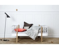 Wood hvit/ eik juniorseng fra Oliver Furniture