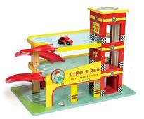 Dinos Garasje, parkeringshus i tre - Le Toy Van
