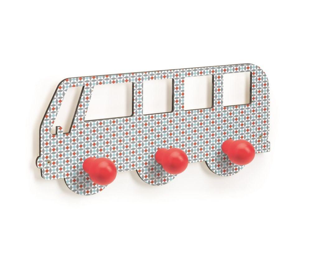 Oppdatert Knaggrekke med tre knagger, buss | Sprell - veldig fine leker og DN-35