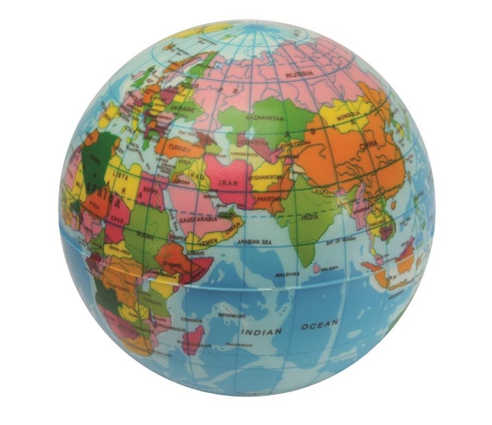 kart og globus Myk ball / stressball, globus | Sprell   veldig fine leker og  kart og globus