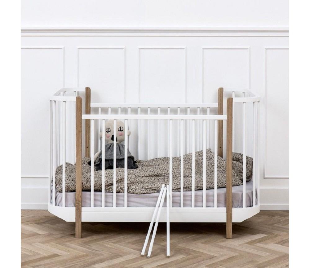 Wood hvit/eik sprinkelseng fra Oliver Furniture | Sprell - veldig fine leker og barneromsinteriør