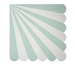 Turkis / hvit stripete servietter, 20 stk