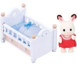 Baby Sjokoladekanin og seng - Sylvanian Families