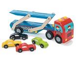 Biltransporter i tre med 4 biler fra Le Toy Van