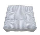 Stripete blå gulvpute fra Oliver Furniture