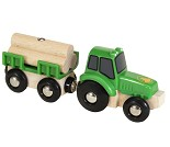Traktor med tømmervogn, BRIO