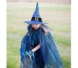 Heksehatt og kappe, 4-10 år,  kostyme
