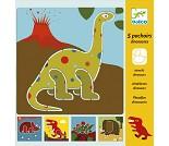 Hobbysett, sjablong med dinosarer