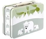 Isbjørn, koffertmatboks i metall fra Blafre