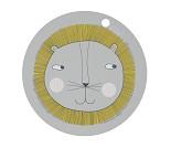 Løve - spisebrikke i silikon - OYOY