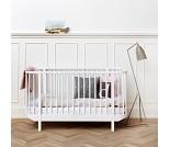 Hvit sprinkelseng, Oliver Furniture Wood