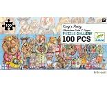 Puslespill fra Djeco, løvefest 100 biter